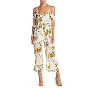 Raga Buttercup Fields White Yellow Floral Jumpsuit
